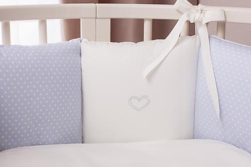 Комплект в кроватку Perina Неженка Oval 7 предметов НО7.4-125х65 Голубой (9)