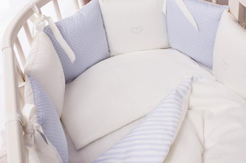 Комплект в кроватку Perina Неженка Oval 7 предметов НО7.4-125х65 Голубой (7)