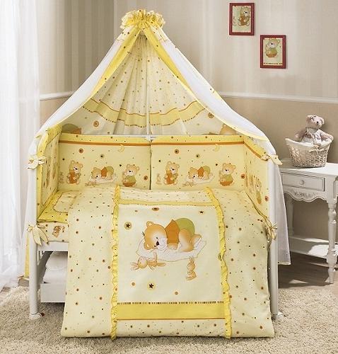 Комплект в кроватку Perina Ника Мишка на подушке Бежевые 4 предметов (4)