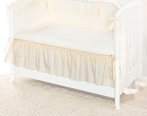 Подматрасник Perina декоративный для детской кроватки Молочный (3)