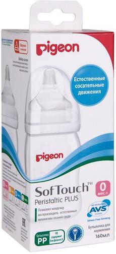 Бутылочка для кормления Перистальтик Плюс Pigeon с широким горлом 160 мл (5)