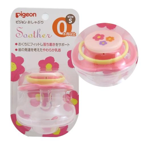 Пустышка Pigeon Цветок розовый 0+ Step 1 (7)