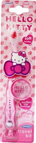 Зубная щетка Hello Kitty с защитным чехлом на присоске (5)