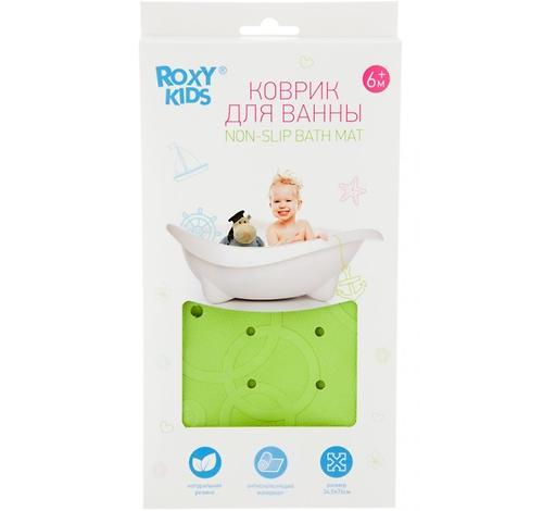 Антискользящий резиновый коврик Roxy Kids с отверстиями Cалатовый (8)