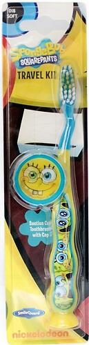 Зубная щетка Sponge Bob дорожная с защитным чехлом на присоске (6)