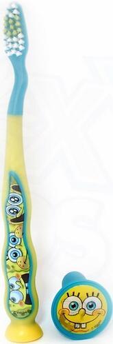 Зубная щетка Sponge Bob дорожная с защитным чехлом на присоске (5)