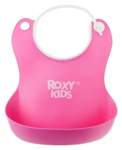 Нагрудник Roxi-Kids мягкий с кармашком и застежкой RB-401-R Розовый (7)