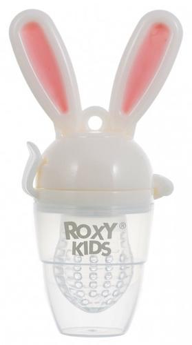 Ниблер Roxy Kids для прикорма Bunny Twist силиконовый Розовый (4)