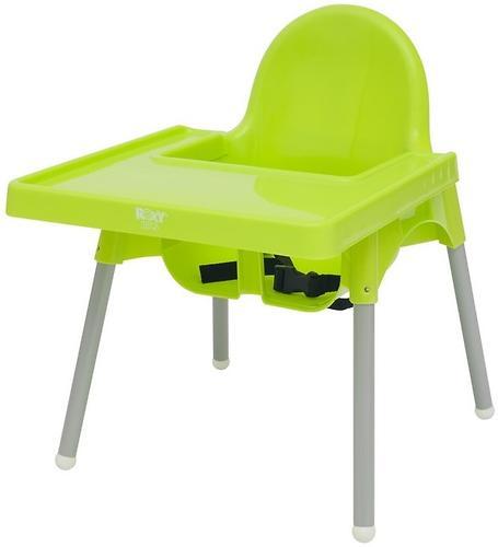 Стульчик для кормления Roxy Kids Fiesta Зеленый с вкладкой Горошек с разборными ножками (15)