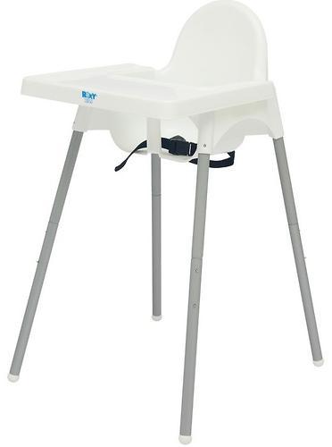 Стульчик для кормления Roxy Kids Fiesta Белый с вкладкой Перышки с разборными ножками (12)