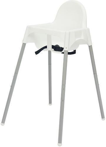 Стульчик для кормления Roxy Kids Fiesta Белый с вкладкой Перышки с разборными ножками (13)