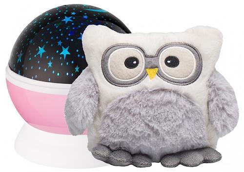 Ночник-проектор звездного неба Roxy Kids с игрушкой Little Owl Розовый + плюшевая Сова (5)