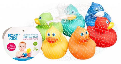 Набор игрушек Roxy Kids для ванной Уточки 6 игрушек (5)