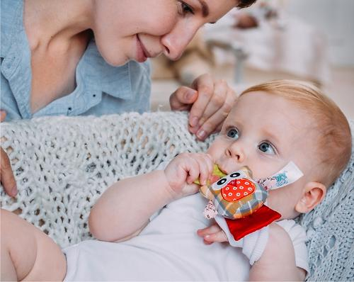 Игрушка развивающая Roxy kids на руку с прорезывателем Совенок Угу (11)