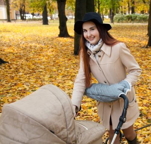Муфта для коляски Melanie кофейная (12)