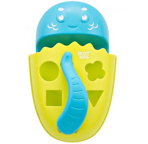 Органайзер-сортер Roxy Kids Dino с полочкой для хранения игрушек и банных принадлежностей Зеленый (12)