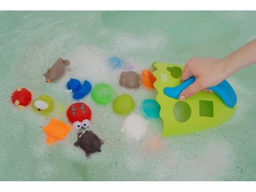 Органайзер-сортер Roxy Kids Dino с полочкой для хранения игрушек и банных принадлежностей Зеленый (18)