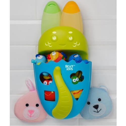 Органайзер-сортер Roxy Kids Dino с полочкой для хранения игрушек и банных принадлежностей Зеленый (13)