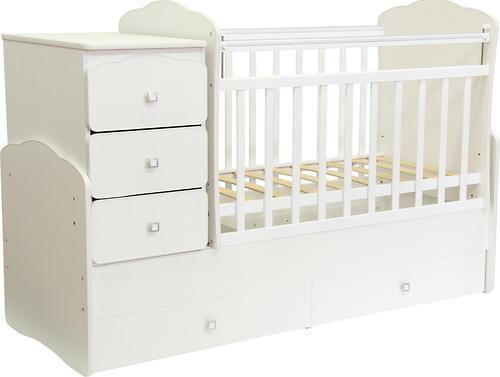 Кроватка детская Фея 2100 Белый (4)