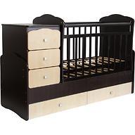 Кроватка детская Фея 2100 Венге-клен