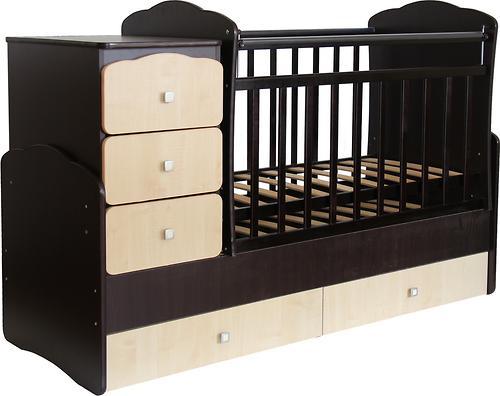Кроватка детская Фея 2100 Венге-клен (4)