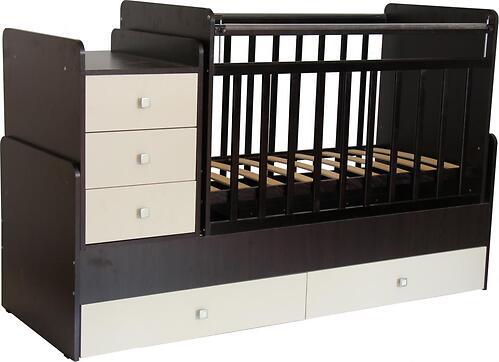 Кроватка детская Фея 1100 Венге-бежевый (4)