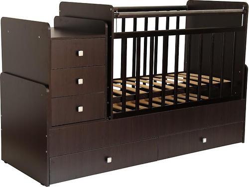 Кроватка детская Фея 1100 Венге (4)