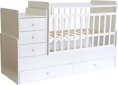 Кроватка детская Фея 1100 Белый (4)