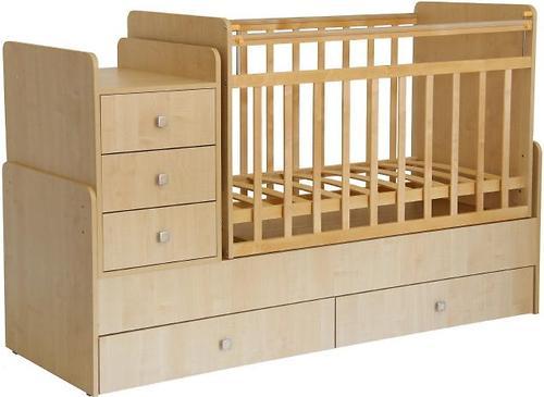 Кроватка детская Фея 1100 Клен (5)