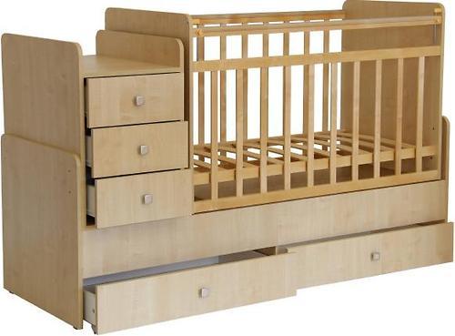 Кроватка детская Фея 1100 Клен (6)