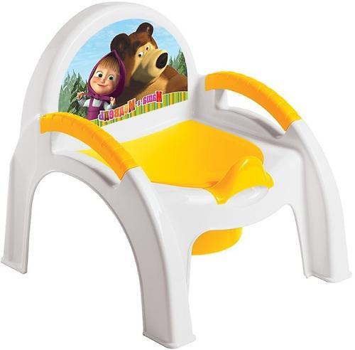 Горшок-стульчик Маша и Медведь с аппликацией Желтый (1)