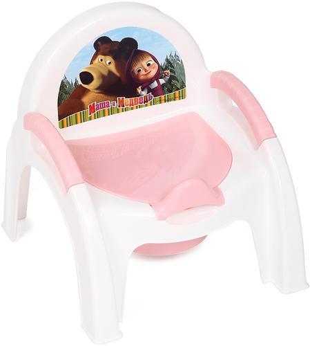 Горшок-стульчик Маша и Медведь с аппликацией Розовый (1)