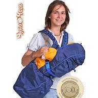 Кенгуру-рюкзак Чудо-Чадо Baby Active Luxe (синий)