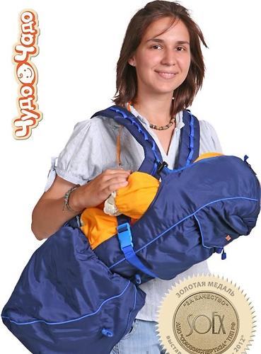 Кенгуру-рюкзак Чудо-Чадо Baby Active Luxe (синий) (1)