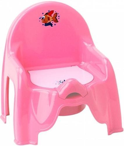 Уценка! Горшок-стульчик детский розовый М2596 (1)