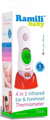Термометр Ramili инфракрасный ушной и лобный ET3030 (5)