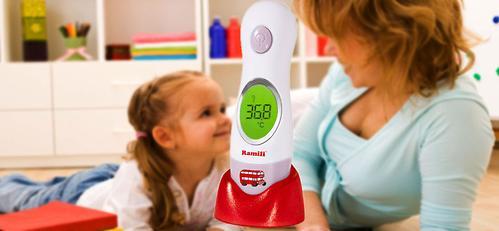 Термометр Ramili инфракрасный ушной и лобный ET3030 (6)