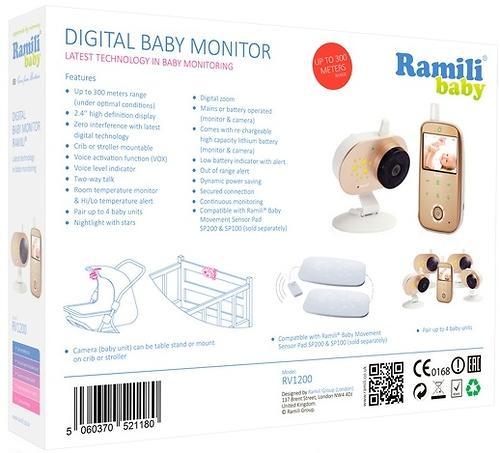 Видеоняня с монитором дыхания Ramili Baby RV1200SP (10)