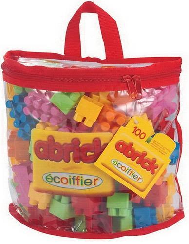 Abrick Кубики для конструирования в сумке, 100 деталей. (1)