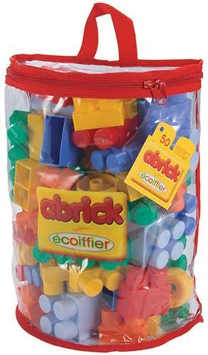 Abrick Кубики для конструирования в сумке, 50 деталей (1)