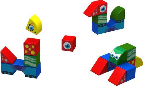 Магнитные кубики Magneticus Стройка (4)