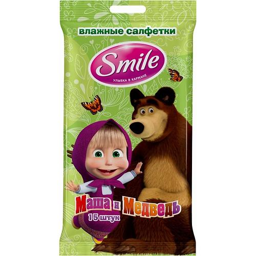 Салфетки влажные Smile Маша и Медведь 15 шт (8)