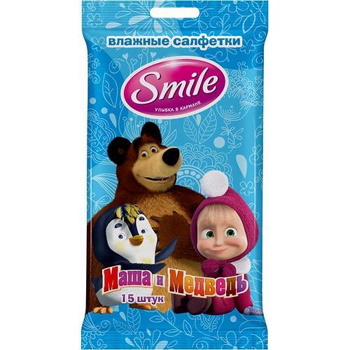 Салфетки влажные Smile Маша и Медведь 15 шт (9)