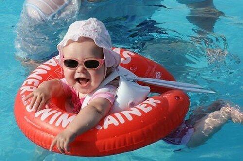 Надувной круг для плавания Swimtrainer красный от 3 мес. до 4 лет (8)
