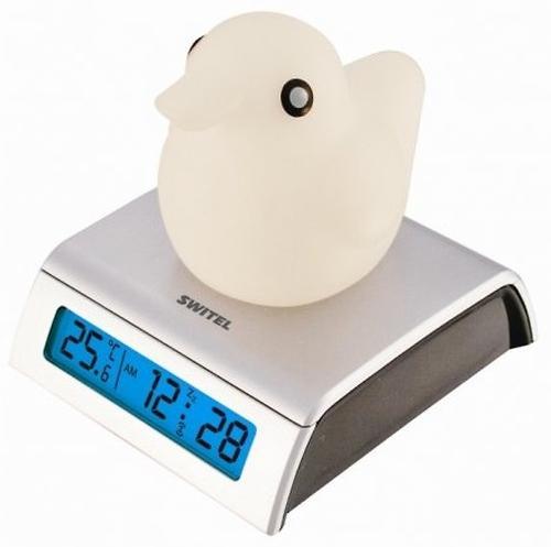 Switel Светящийся термометр-часы с будильником для детской BC150 (1)
