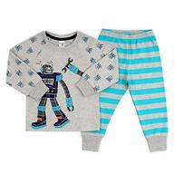 Пижама Crockid К 1519/св.серо-голуб.меланж+бирюз.полоска