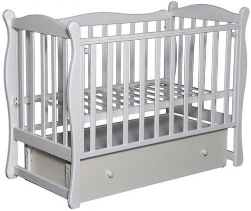 Кроватка детская Антел Северянка-2 маятник Белая (1)