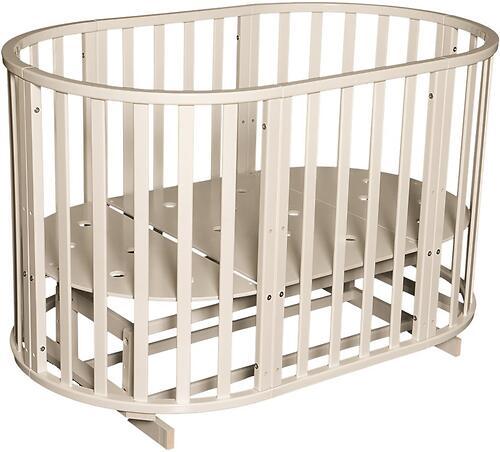 Кроватка детская Антел Северянка-3 маятник/колесо Слоновая кость (5)