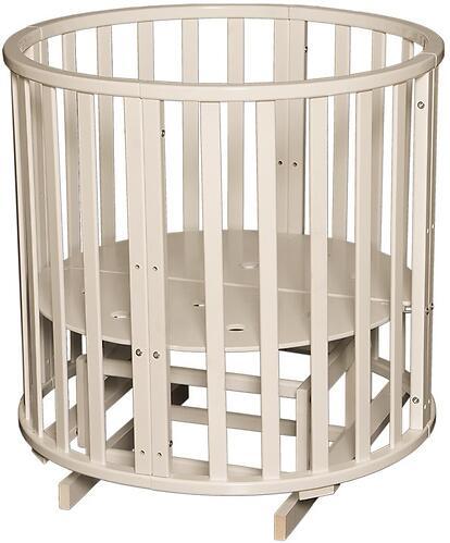 Кроватка детская Антел Северянка-3 маятник/колесо Слоновая кость (6)