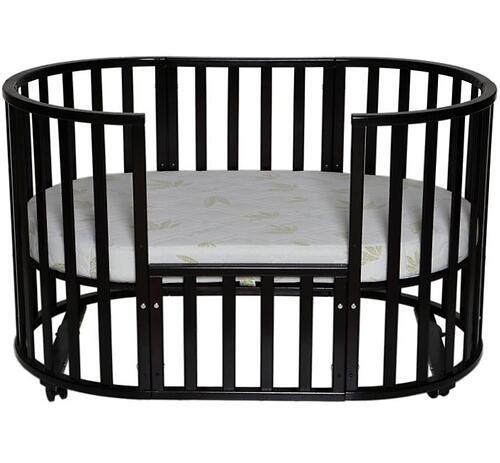 Кроватка детская Антел Северянка-3 маятник/колесо Слоновая кость (8)